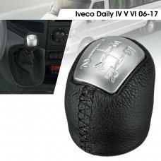 Iveco Daily 2006-2017 Váltógomb 5+R Textilbőr, fekete, ezüst